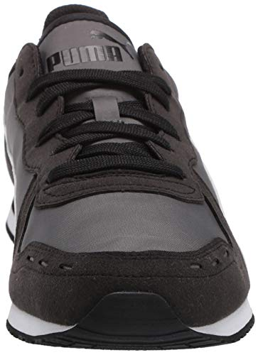 PUMA Cabana Run Sneaker, Dark Shadow Black White, 13 M US