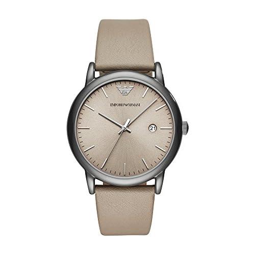 chollos oferta descuentos barato Emporio Armani Reloj Analogico para Hombre de Cuarzo con Correa en Cuero AR11116