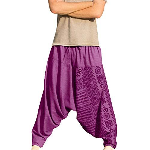 HucodeVan Pantalones Hombre Estilo étnico Pantalones ...