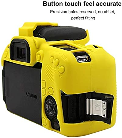 Color : Yellow JINGZ Soft Silicone Protective Case for Canon EOS 77D Durable