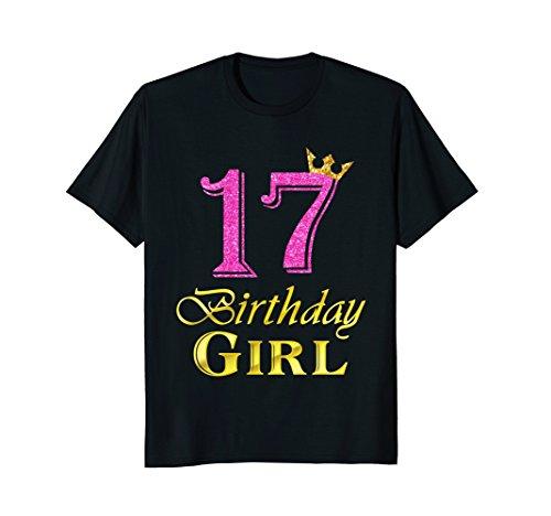 17th Birthday Girl Princess Shirt 17 Years Old 17th Birthday