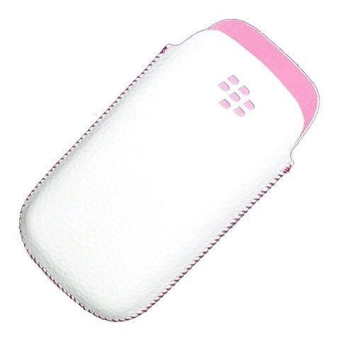 - GENUINE BLACKBERRY PEARL 9105 WHITE PINK LEATHER CASE [Wireless Phone Accessory]
