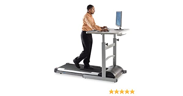 AKONZA Electric Standing Walking Treadmill Desk Workstation w//Tabletop Adjustable Height for Home /& Office w//Cup Holder