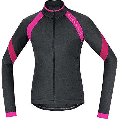 (GORE BIKE WEAR Power 2.0 Thermo Jersey - Long-Sleeve - Women's Black Magenta, L)