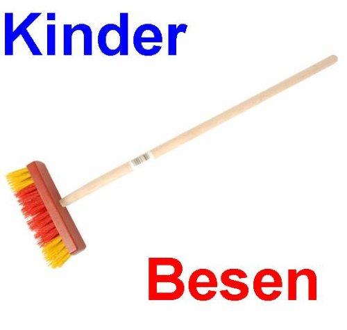 Kinder Gartenbesen Holz mit Kunststoff Borsten, Kinder Garten Haushalts Besen (LHS)