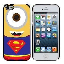 Cute Adorable SuperMan Minion Red and Blue iphone 5/5s Case