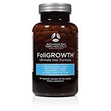 FoliGROWTH Ultimate Hair Growth Formula with Biotin, Choline, Opti MSM - Thicker Stronger Longer Hair Growth Vitamin - Men and Women 90 Caps