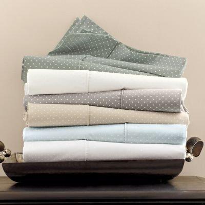 Cottage Fitted Sheet - Charisma LEXINGTON DOT Premium Oversized Queen Flat Sheet, Parchment/Light Beige