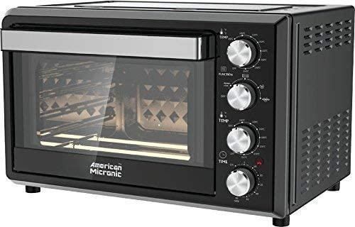 American Micronic AMI-OTG-36LDx 36-Litre, 2000W Imported OTG with Rotisserie, Convection, Double glass, Double thermostat (Black)