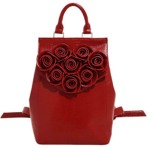 Nicole Backpack (Danielle Nicole Disney Beauty And The Beast Rose Backpack, Red)
