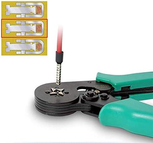 四辺形圧着ペンチ、省力ラチェット装置、圧力調整ノブ、人間工学に基づいたナイロン製コンフォートハンドル、コンパクトで操作が簡単、正確