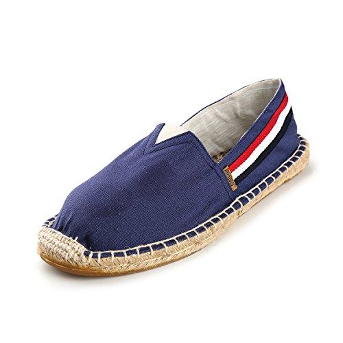 Rayées Femme Alexis Leroy Toile Chaussures Espadrilles Bleu En Flatform 60PxB