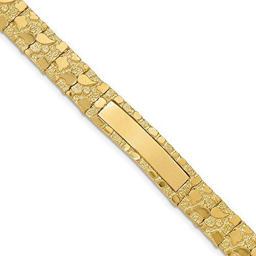 Solid 14k Yellow Gold Big Heavy 12.0mm Nugget ID Bracelet 8