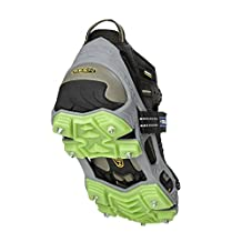 IMPACTO HIKEEXP-750-01 Stabilicers Hike Xp Traction Cleats, Small Men 4-7, Women 5-8, Grey/Green