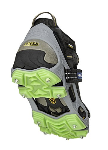 STABILicers Hike XP Traction Ice Cleat for Hiking in Snow and Ice, 1 pair,  Large (10.5-13 Men), Gray/Green