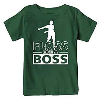 Kids Floss Like a Boss Flossin Dance Youth T Shirt (Forest Green, Youth XS)