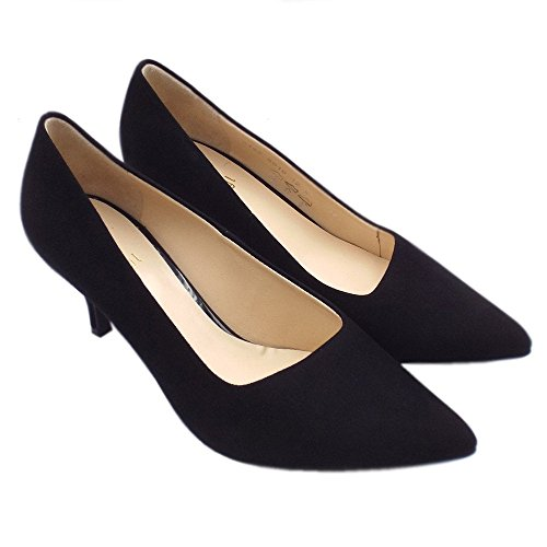 Court Classic 6 Pointed Black Queennie Shoe 10 HÖGL Sued Black 6142 Suede in xwYIqnBf