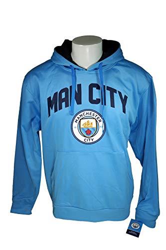 Manchester City F.C. Fleece Jacket Sweatshirt Official Soccer Hoodie Medium 025 (Manchester City Soccer Hoodie)