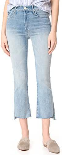 MOTHER Women's The Insider Crop Step Fray Jeans