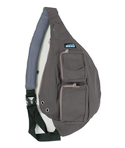 Meru - Small Backpack - Cross Body Bag, Sling Backpack Shoulder Bag for Women and Men (Graphite)