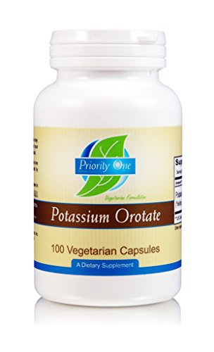 Priority One Vitamins Potassium Orotate 100 Vegetarian Capsules – Highly-Absorbable – Healthy carbohydrate and energy metabolism* – Supporting a healthy cardiovascular system.*