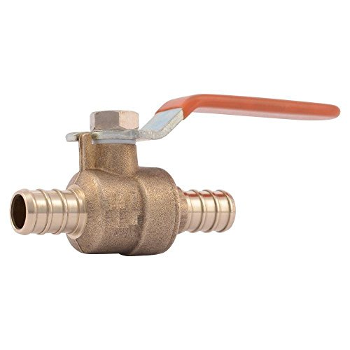 PEX 1/2 inch Full Port LEAD FREE Barbed Ball Valve - Set of 10 pcs/Brass / 1/2'' by VENTRAL