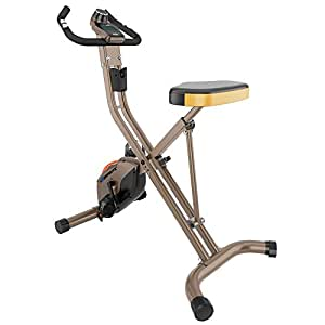 Exerpeutic GOLD 500 XLS 400lb Weight Capacity Foldable Upright Bike with Equipment Mat