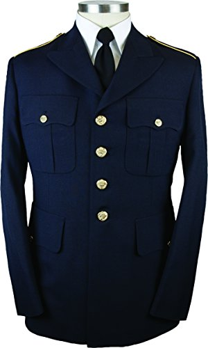 Army Service Uniform ASU Tropical Male Enlisted Dress Blue Coat (44 Short) by TheSupplyRoom