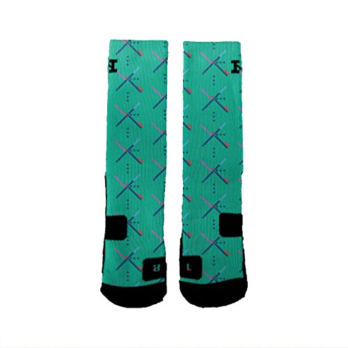 HoopSwagg PDX Carpet Custom Socks Medium (Airport Socks)