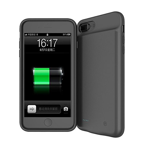 CaseforYou Batterie Custodia iPhone 7 Plus Batteria Cassa Cover Portable Charging Protettivo Case 4000mAh Extended Battery Backup Protective Cover Power Bank Charger Protettore per iPhone 7 Plus Cellu