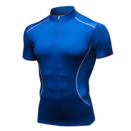 Men's Summer Sports Fitness Fast Dry Clothes Sports Short Sleeves Top]()