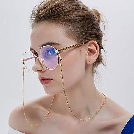 Casue Anti-Rutsch-Lesebrille Kette Brillenband Retro Metallkette Sonnenbrille Retainer Strap Sonnenbrille Halter Lanyards Eyewear Retainer