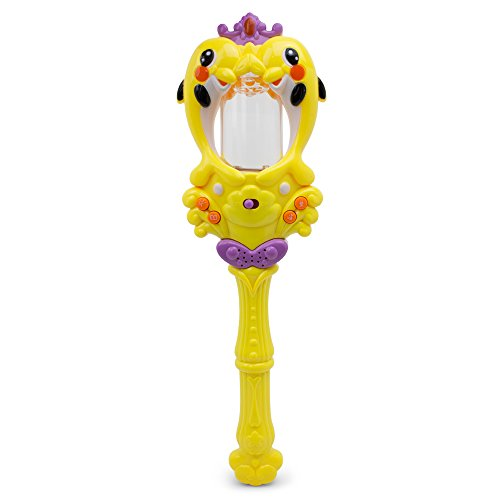 Electronic Magic Water Fountain Wand - 3D - 3D Lights and Dance Sound - Storyteller - Sweet Melodies- Rocky Music - Yellow