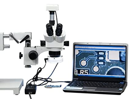 Professionelle trinocular led mikroskop mit mp usb kamera