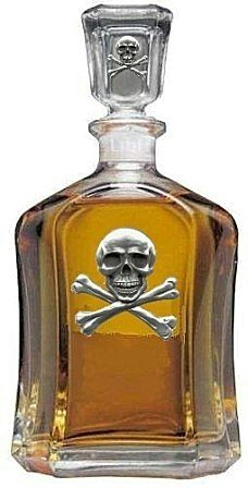 Skull and Bones Capitol Decanter