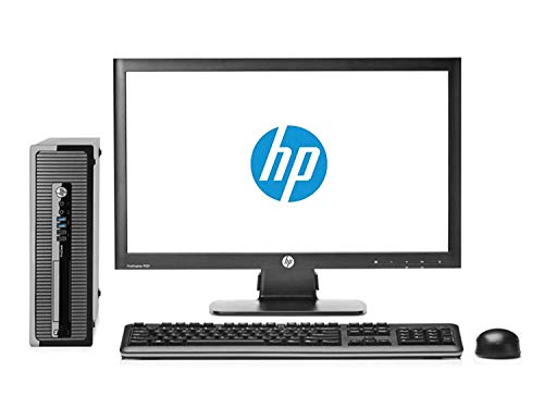 HP Elite 8200 Ordinateur de Bureau Complet avec écran 22″ (Intel Core I5-2400, 8 Go de RAM, SSD de 240 Go, DVD, Windows 10 Professionnel Original) Noir (reconditionné)