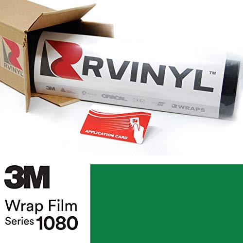 (3M 1080 G46 Gloss Kelly Green 4in x 6in (Sample Size) Vinyl Vehicle Car Wrap Film Sheet Roll)
