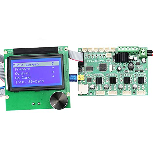 zzpopGG Printer Control Panel Display kit,24V Replacement 3D Printer Mainboard Motherboard LCD Display for Ender-3/3S