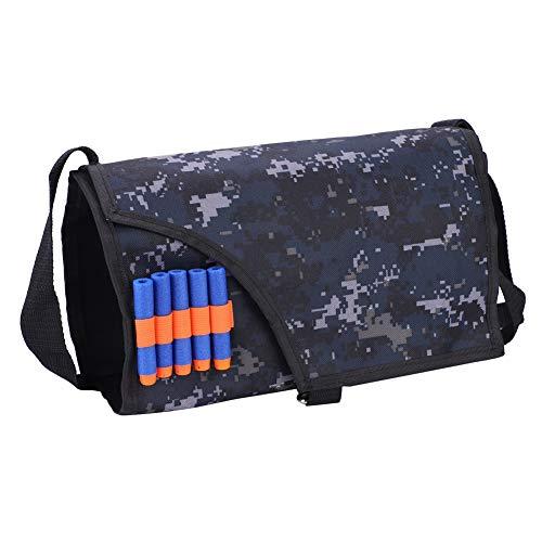 T-best Soft Bullet Storage Shoulder Bag,12/18-Round Oxford Cloth Magazine Clips Holder Bag Messenger Bag Dart Carry Case for Kid NERF N-Strike Blaster (Large for 18-Round)