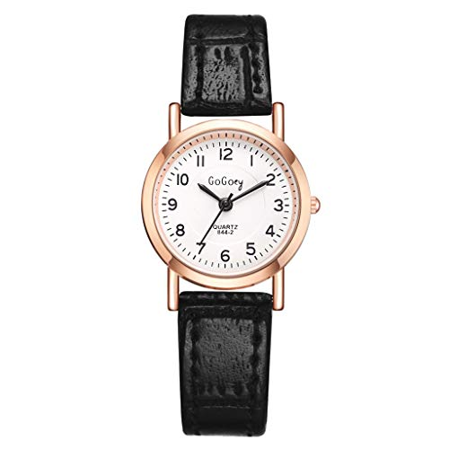 LUCMAORE Women's Mini Watch Fashion Analog Quartz Watches with Leather Band Simple Casual Business Dress Watch Ladies
