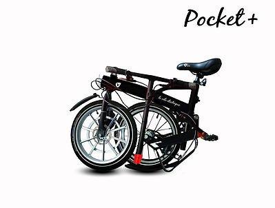 Bicicleta eléctrica plegable 24 Pocket 160 W v: Amazon.es: Deportes y aire libre