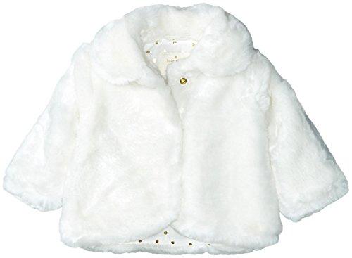 Kate Spade New York Girls' Faux Fur Jacket (Little Kids), Cream, 2 Toddler by Kate Spade New York