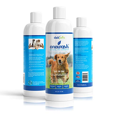 Natural Dog-Shampoo & Conditioner. Anti-Bacterial-Anti-Fungal-Anti-Itch-Anti-Allergy,Veterinary Grade Formula Wash for All Pets,Helps Hot Spots. Aloe,Coconut Oil & Oatmeal Relieve Dry Itchy Skin ()
