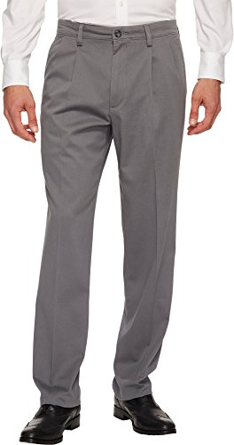 Dockers Men's Easy Khaki D3 Classic Fit Pleated Pants Burma Grey 40 32