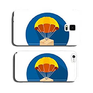 Vector flat parachutes icons set cell phone cover case iPhone5
