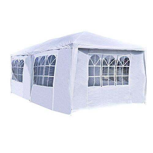 - ALEKO APT20X10GAZEBO Outdoor Event Canopy Tent Shelter Wedding Party 20 x 10 x 8.5 Feet White
