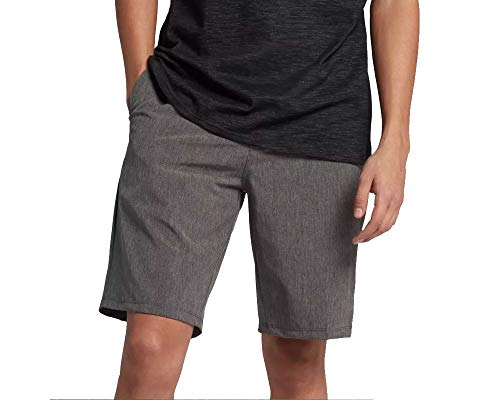 (Hurley Men's Phantom Hybrid Walkshorts Black Heather 36 20)
