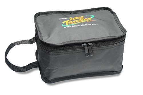 """Battery Tender 500-0139 Medium Zipper Pouch 6"""" x 8"""" Carrying Case for Junior and Plus Battery Chargers and Accessories"""