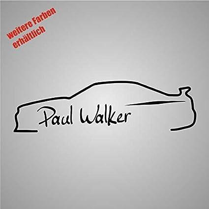 Dinger Design Aufkleber Unterschrift Paul Walker Auto Jdm Tuning 3 Decal Stickerbomb Weiß Auto
