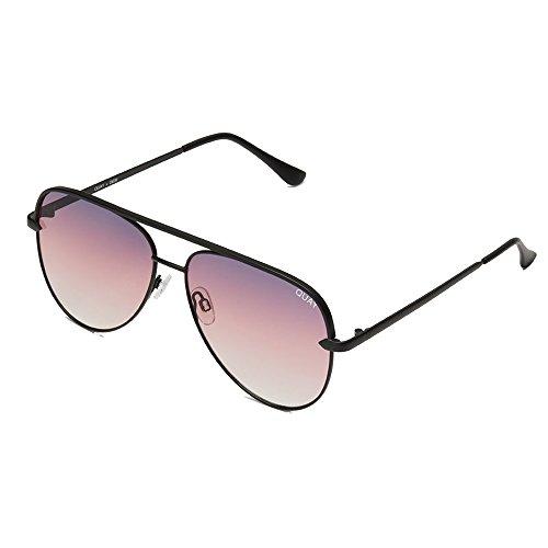 d72c3ce9bc Amazon.com  Quay Australia SAHARA Women s Sunglasses Oversized Aviator  Sunnies - Black Purple  Clothing